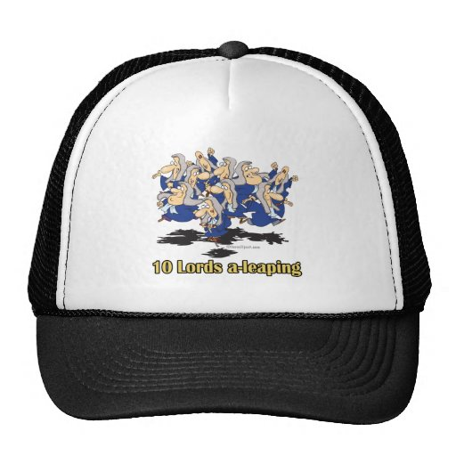 ten lords a-leaping 10th tenth day of christmas trucker hat