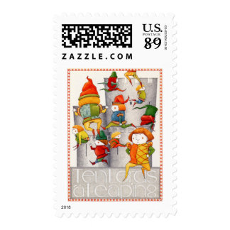 Ten Lords a Leaping 1st Class 2oz odd/3oz Stamps