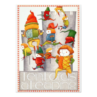 "Ten Lords a Leaping 6.5 x 8.75 inch Invitation 6.5"" X 8.75"" Invitation Card"