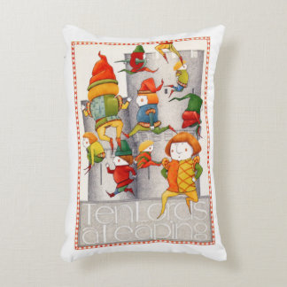 Ten Lords a Leaping Decorative Pillow