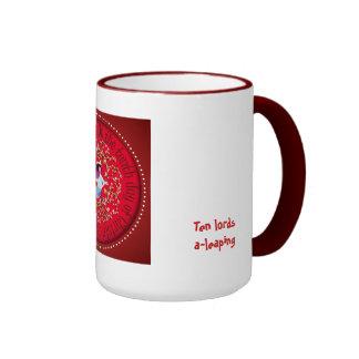 Ten lords a-leaping ringer mug