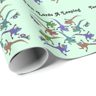 Ten Lords A Leaping Wrapping Paper
