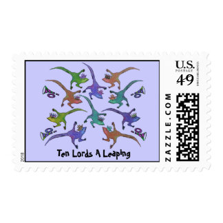 Ten Lords Leaping Postage Stamps