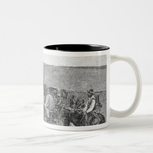 Ten Minutes Before the Great Rush Two-Tone Coffee Mug