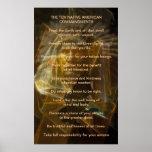 Ten Native American Commandments Poster