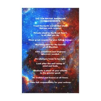 Ten Native American Indian Commandments Canvas Print