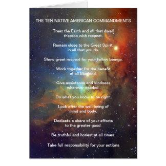 Ten Native American Indian Commandments Card