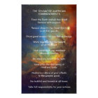 Ten Native American Indian Commandments Poster