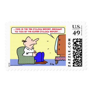 ten o'clock report tv stamps