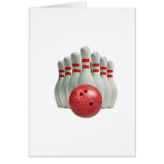 """""""Ten Pin Bowling 1"""" design gifts and products Card"""