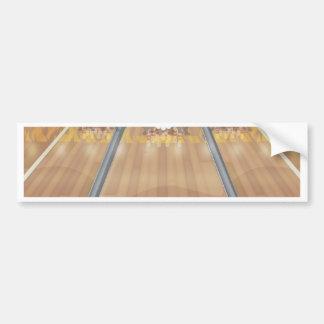 Ten Pin Bowling Alley Bumper Sticker