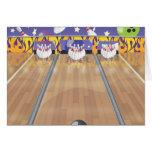 Ten Pin Bowling Alley Card