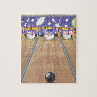 Ten Pin Bowling Alley Jigsaw Puzzle