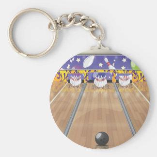 Ten Pin Bowling Alley Keychain