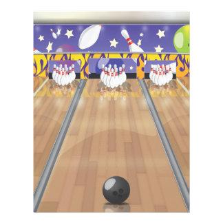 Ten Pin Bowling Alley Letterhead
