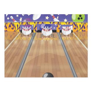 Ten Pin Bowling Alley Postcard