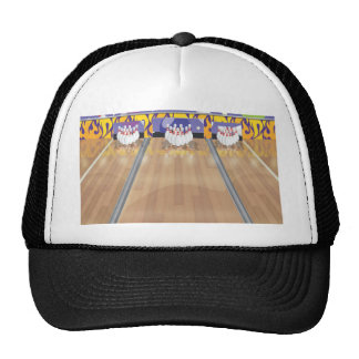 Ten Pin Bowling Alley Trucker Hats