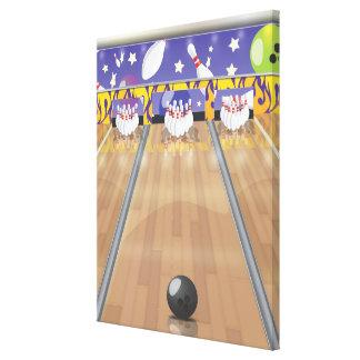 Ten-pin bowling canvas print