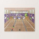 Ten-pin bowling jigsaw puzzle
