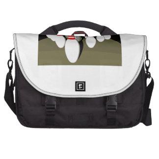 Ten Pin Bowling Laptop Messenger Bag