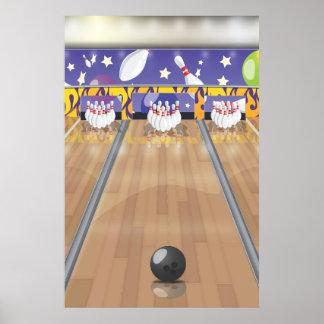 Ten-pin bowling posters