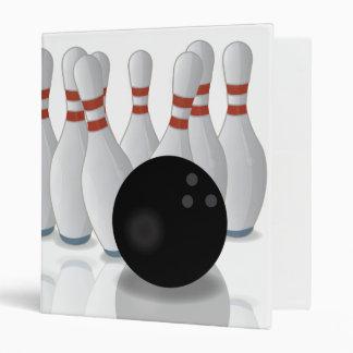 Ten-pin bowling vinyl binder
