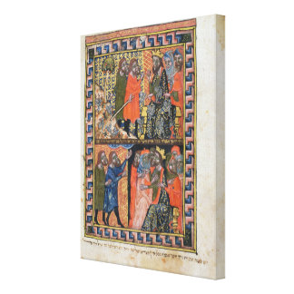 Ten Plagues of Egypt TtoB; the Plague of Gallery Wrapped Canvas
