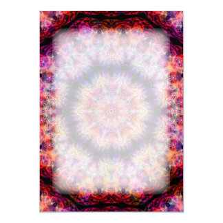 Ten Pointed Radial Colorful Kaleidoscope Card