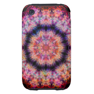 Ten Pointed Radial Colorful Kaleidoscope iPhone 3 Tough Cover