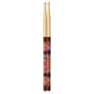 Ten Pointed Radial Colorful Kaleidoscope Drumsticks