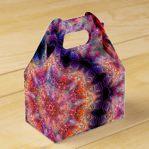 Ten Pointed Radial Colorful Kaleidoscope Favor Box
