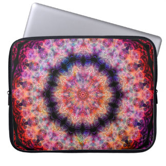 Ten Pointed Radial Colorful Kaleidoscope Laptop Computer Sleeves