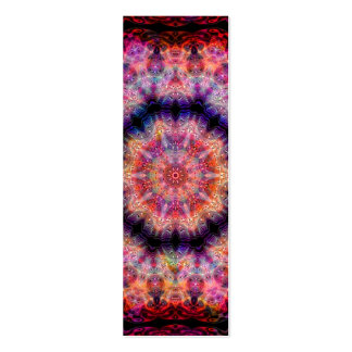 Ten Pointed Radial Colorful Kaleidoscope Mini Business Card
