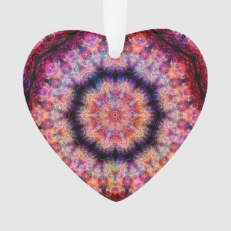 Ten Pointed Radial Colorful Kaleidoscope Ornament