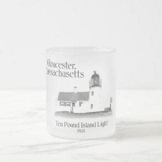 Ten Pound Island Light - Massachusetts 10 Oz Frosted Glass Coffee Mug