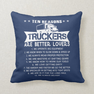 Ten REASONS - TRUCKERS Throw Pillow