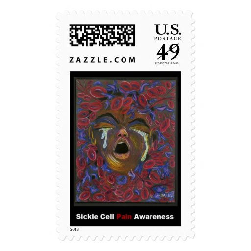"""Ten Redefined"" Pain Art - Sickle Cell Awareness Postage"