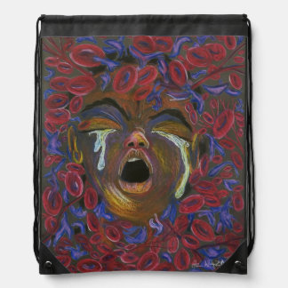 Ten Redefined - Sickle Cell Art by Nazaire Cinch Bag