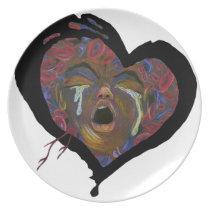 Ten Redefined - Sickle Cell Heart Art Dinner Plate