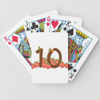 Ten strawberries bicycle playing cards