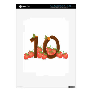 Ten strawberries decal for iPad 3