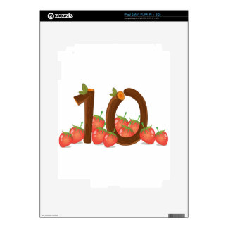 Ten strawberries skins for iPad 2