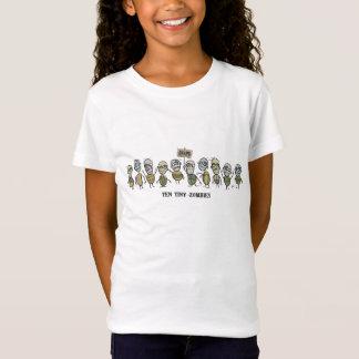 Ten Tiny Zombies Girls Baby Doll T-Shirt