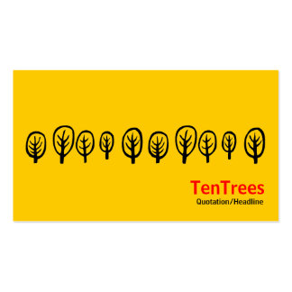 Ten Trees - Black and Red on Amber Double-Sided Standard Business Cards (Pack Of 100)