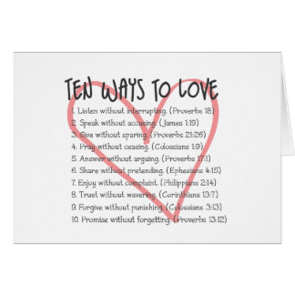 ten ways to love card - Religious Valentine Cards