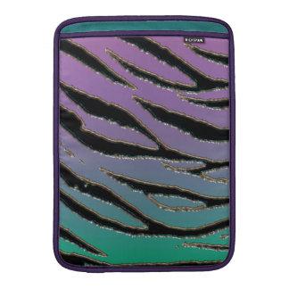 Teña mi trullo y púrpura del tigre funda  MacBook