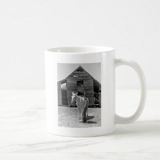 Tenant Farmer's Mule, 1930s Classic White Coffee Mug