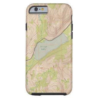 Tenaya Lake, Yosemite Topographic Map Tough iPhone 6 Case