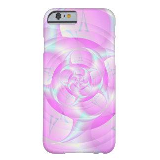 Tenazas espirales en rosa y azul funda de iPhone 6 barely there