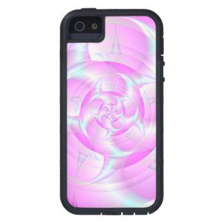 Tenazas espirales en rosa y azul iPhone 5 funda